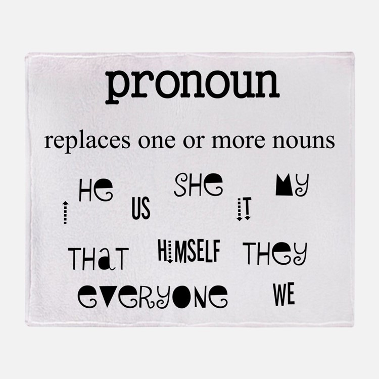 Pronoun Throw Blanket