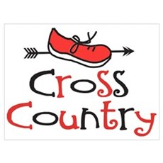 Funny Cross Country Shoe Poster