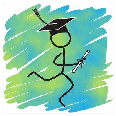 Graduate Runner Canvas Art