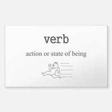 Verb Sticker (Rectangle 50 pk)