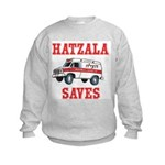HATZALA SAVES Kids Sweatshirt