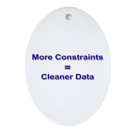 """""""Keep Your Data Clean"""" Oval Ornament"""