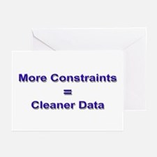 """Keep Your Data Clean"" Greeting Cards (Package of"