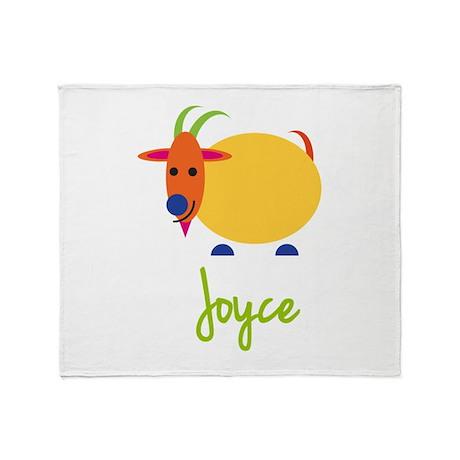 Joyce The Capricorn Goat Throw Blanket