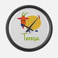 Teresa The Capricorn Goat Large Wall Clock