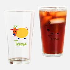 Teresa The Capricorn Goat Drinking Glass