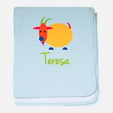 Teresa The Capricorn Goat baby blanket