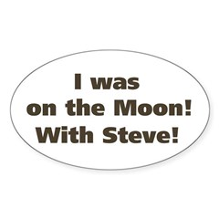 Moon with Steve Oval Decal