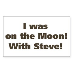 Moon with Steve Rectangle Decal