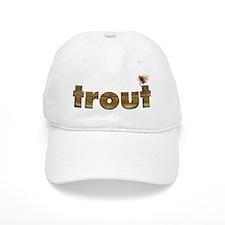 Cute Brown trout fishing Baseball Cap