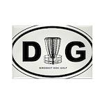DG Oval - Rectangle Magnet