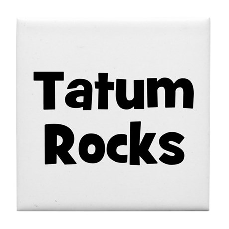 Tatum Rocks Tile Coaster