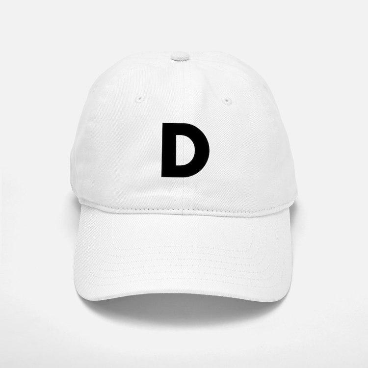 Letter D Baseball Baseball Cap