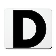 Letter D Mousepad