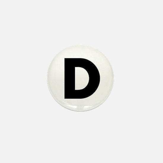 Letter D Mini Button