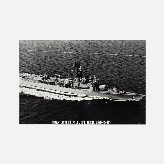 USS JULIUS A. FURER Rectangle Magnet