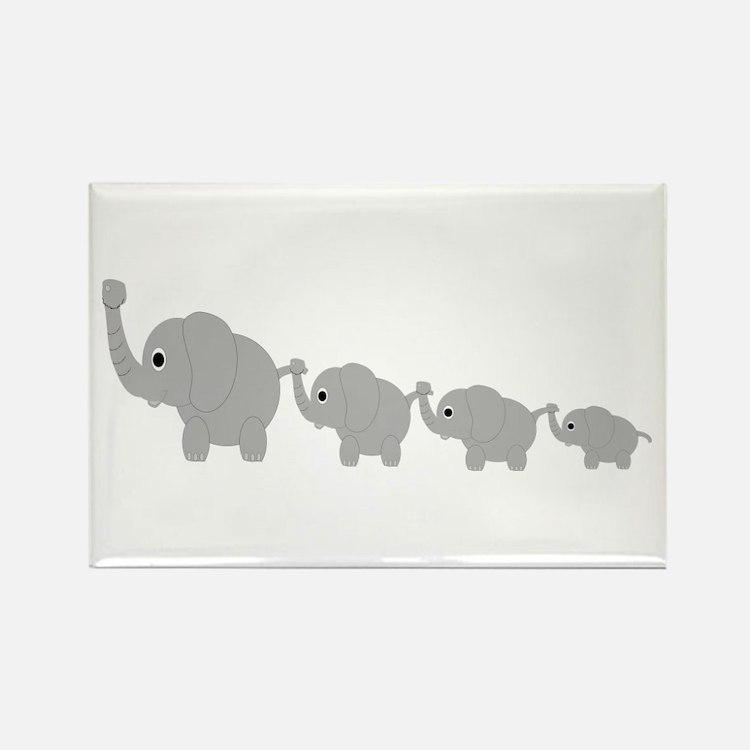 Elephants Design Rectangle Magnet
