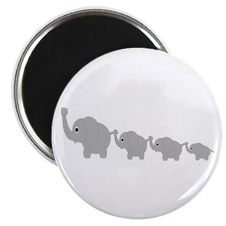 """Elephants Design 2.25"""" Magnet (10 pack)"""