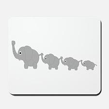 Elephants Design Mousepad