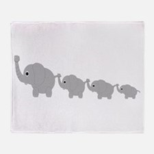 Elephants Design Throw Blanket