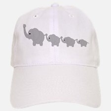 Elephants Design Baseball Baseball Cap