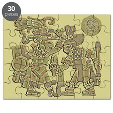 Vintage Aztec Carving Puzzle
