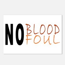 No Blood No Foul Postcards (Package of 8)