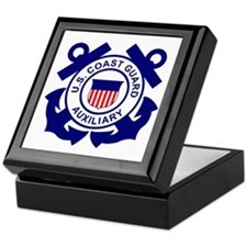 Coast Guard Auxiliary<BR> Tile Insignia Box