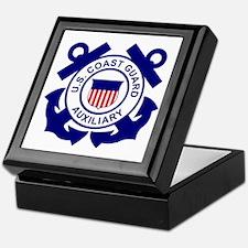 Coast Guard Auxiliary<BR> Tile Insignia Box