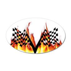 Racing Flag Fire 1 22x14 Oval Wall Peel