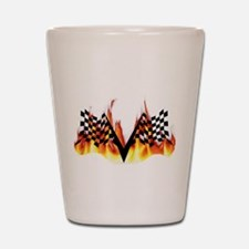Racing Flag Fire 1 Shot Glass