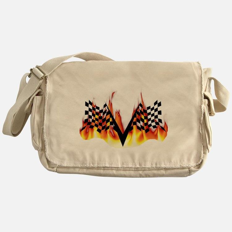 Racing Flag Fire 1 Messenger Bag
