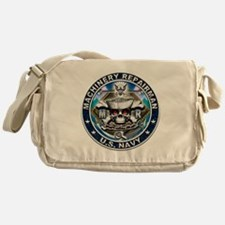 USN Machinery Repairman Skull Messenger Bag