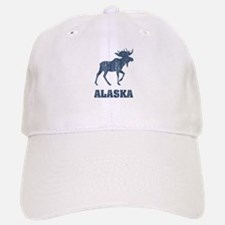 Retro Alaska Moose Baseball Baseball Cap