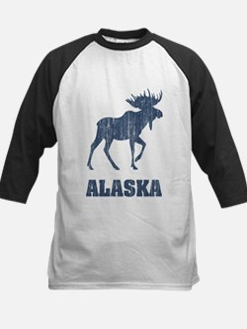 Retro Alaska Moose Kids Baseball Jersey