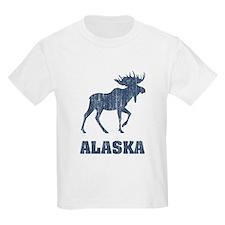 Retro Alaska Moose Kids T-Shirt