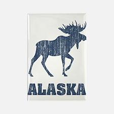 Retro Alaska Moose Rectangle Magnet