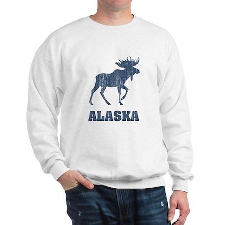 CafePress - Retro Alaska Moose Sweatshirt