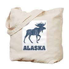 Retro Alaska Moose Tote Bag