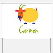 Carmen The Capricorn Goat Yard Sign