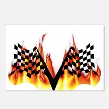 Racing Flag Fire 1 Postcards (Package of 8)