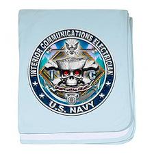 USN Interior Communications E baby blanket