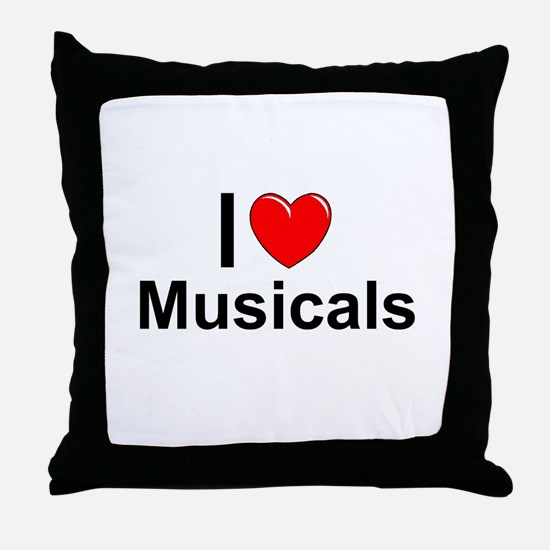 Musicals Throw Pillow