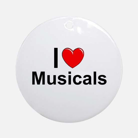 Musicals Round Ornament
