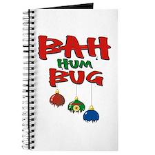 Bah Humbug Broken Christmas Ornaments Journal
