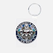 USN Machinists Mate Skull MM Keychains
