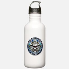 USN Machinists Mate Skull MM Water Bottle