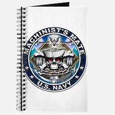 USN Machinists Mate Skull MM Journal