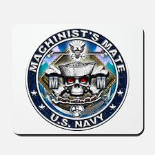 USN Machinists Mate Skull MM Mousepad