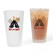 Hell on Heels Drinking Glass